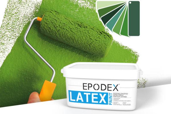 Latex paint epodex gruen