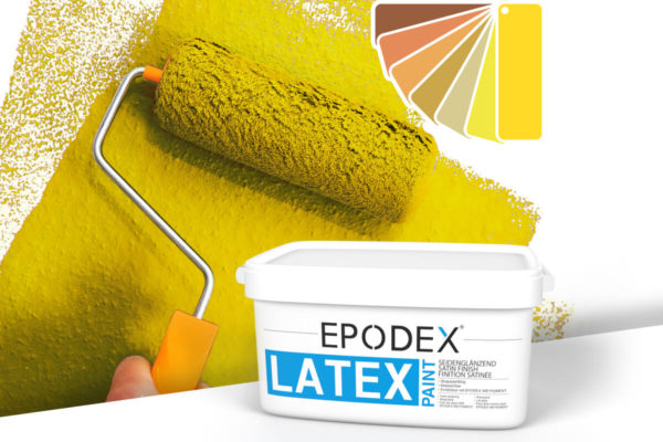 Latex paint epodex orange gelb