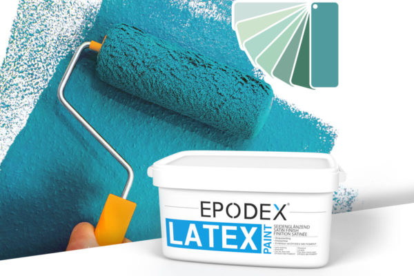 Latex paint epodex tuerkis