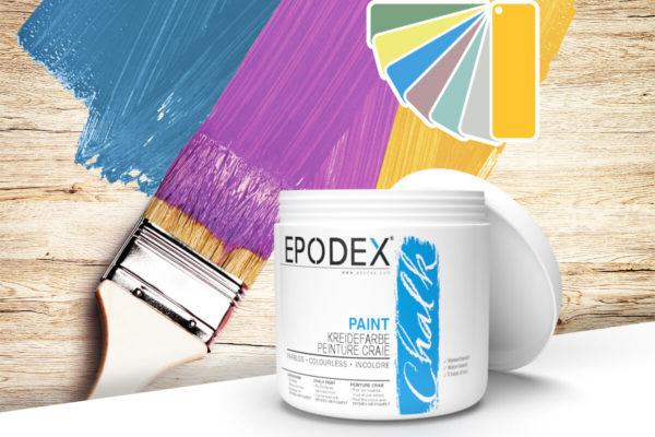 kreidefarbe chalk paint epodex bunt